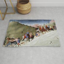 The Journey of the Magi (ca 1433-35) by Stefano di Giovanni Rug
