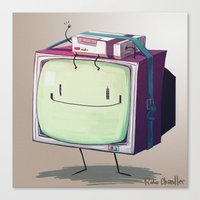 beemo Canvas Prints featuring Adventure Time BMO by RoboChandler