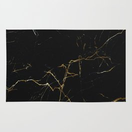 black and gold marble Rug