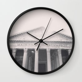 The Pantheon, fine art print, black & white photo, Rome photography, Italy lover, Roman history Wall Clock