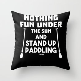 Water standing paddling surfboard gift Throw Pillow