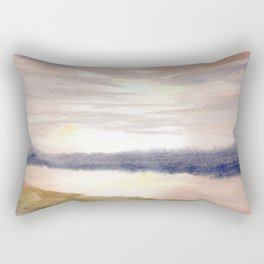 An Empty Landscape in which there is Nothing Rectangular Pillow
