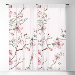 Apple Blossom Pink #society6 #buyart Blackout Curtain