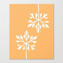 Simple snowflake Canvas Print