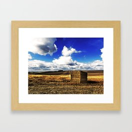 Autumn haystack Framed Art Print