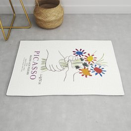 Picasso Exhibition - Mains Aus Fleurs (Hands with Flowers) 1958 Artwork Rug