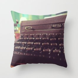 Type the Pages to Your Dream. Throw Pillow