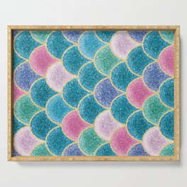 Glittery Mermaid Scales Serving Tray