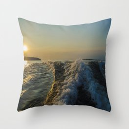 The wave Throw Pillow