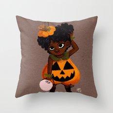 Jakie-O-Lantern Throw Pillow