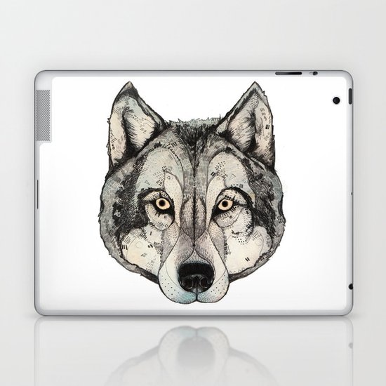 Wolf Mask Laptop & iPad Skin