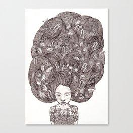 Bad Hair Day II Canvas Print