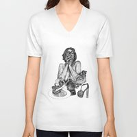vogue V-neck T-shirts featuring Vogue by [ g ]
