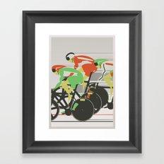 Velodrome Bike Race Framed Art Print