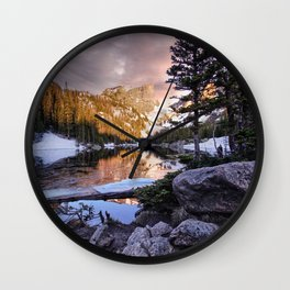 Dramatic Dawn at Dream Lake Wall Clock