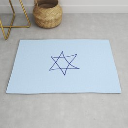 Star of David 19- Jerusalem -יְרוּשָׁלַיִם,israel,hebrew,judaism,jew,david,magen david Rug