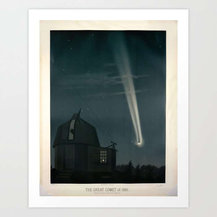 The great comet of 1881 Étienne Léopold Trouvelot Art Print