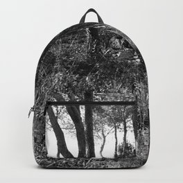 Black and white country wicked forest Backpack