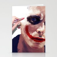 christian Stationery Cards featuring Christian Bale by Pazu Cheng
