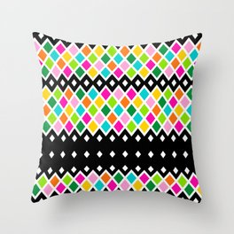 DIAMOND - Black Throw Pillow