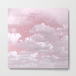 Clouds in a Pink Sky Metal Print