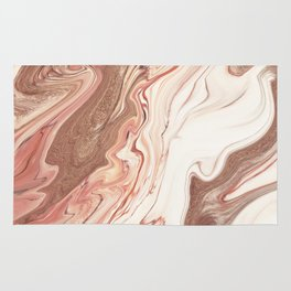 Rose Gold Marble Rug