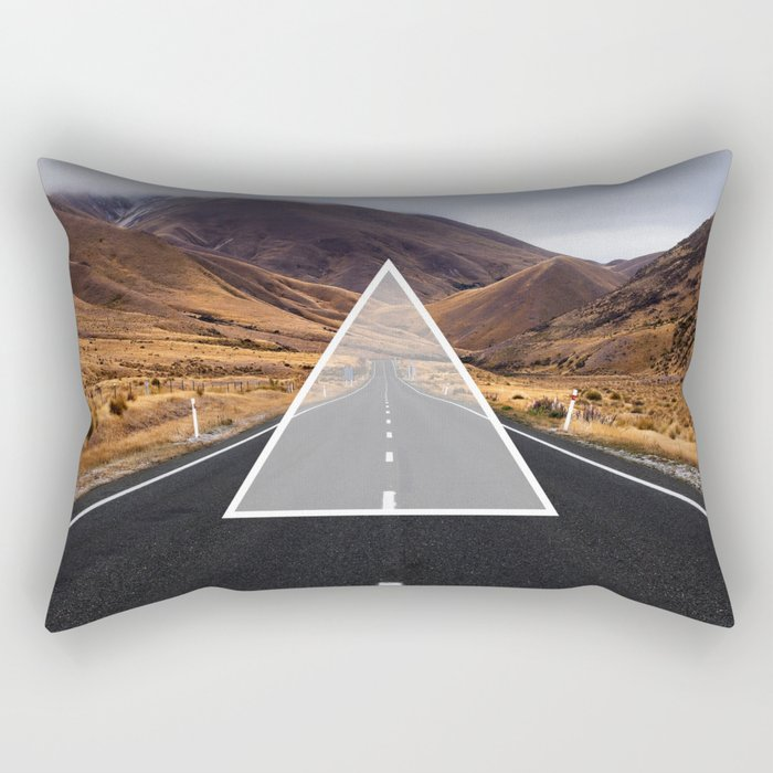 Route Triangle Rectangular Pillow