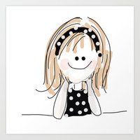 girly Art Prints featuring girly by Indraart