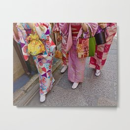 Happy (Kimono) Feet Metal Print