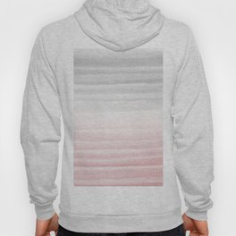 Touching Blush Gray Watercolor Abstract Stripe #1 #painting #decor #art #society6 Hoody