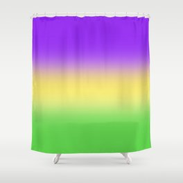Mardi Gras Ombré Gradient Shower Curtain