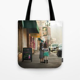 Girls on Main Street Tote Bag