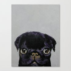 Black Pug Canvas Print