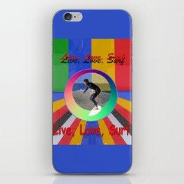 Live Love Surf iPhone Skin