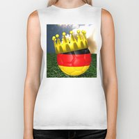 world cup Biker Tanks featuring World Cup Champion 2014 by Littlebell