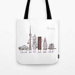 Toronto skyline art print Tote Bag