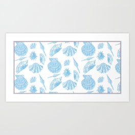 Coquillage in white Art Print