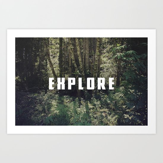 Explore: Forest Art Print