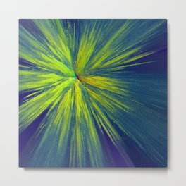 Green yellow splash Metal Print