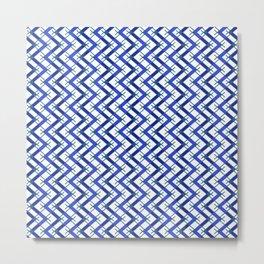 Classic Blue Arizona Native Minimalist Pattern Metal Print