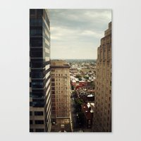 philadelphia Canvas Prints featuring Philadelphia  by Kameron Elisabeth