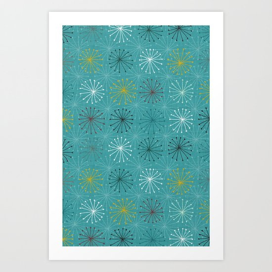 seedheads blue Art Print