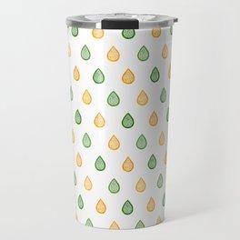 Yellow and green raindrops Travel Mug