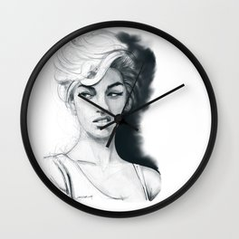 Face disgusted Wall Clock