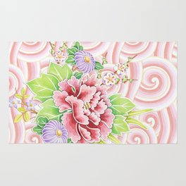 Pink Kimono Bouquet Rug