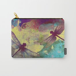 Painting Orchids and Dragonflies Carry-All Pouch