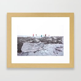 Dancing Tourists Framed Art Print