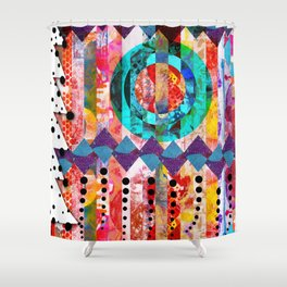 Holiday Mash Up Shower Curtain
