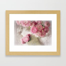 Ranunculus Love Framed Art Print