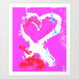 Pink Graffiti Ribbon for Breast Cancer Research by Jeffrey G. Rosenberg Art Print